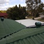 Photo showing Colour Finish Whirlybirds installed to a customers roof.