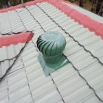 Photo showing a Colour Finish Whirlybird installed to a customers roof.