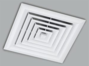 Whirly Mate Closeable Ceiling Vent installed to a ceiling