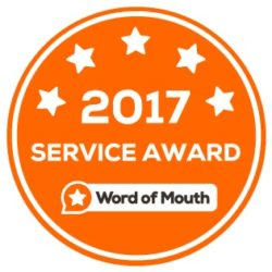 2017 Customer Service Award WordOfMouth.com.au