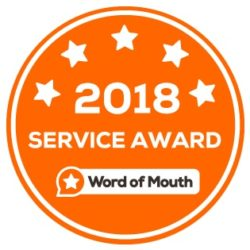 2018 Customer Service Award WordOfMouth.com.au