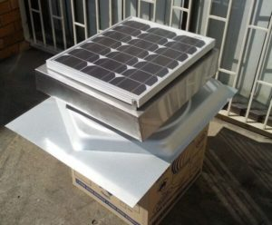 Solar Roof Vent straight out of the box