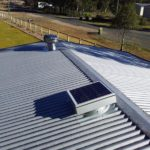 Solar Roof Vent installed on a Zincalume Metal Roof