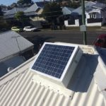 Solar Roof Vent installed on a Colorbond Metal Roof