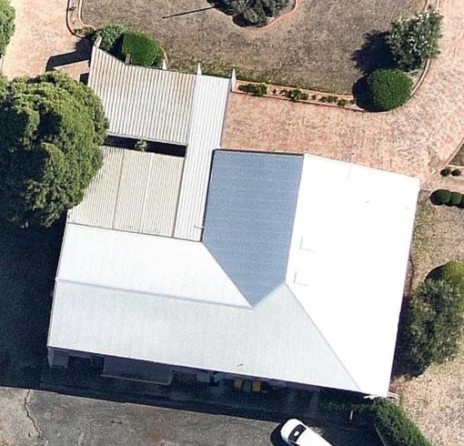 After Metal Roof Replacement Satellite Image