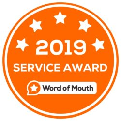 2019 Customer Service Award WordOfMouth.com.au