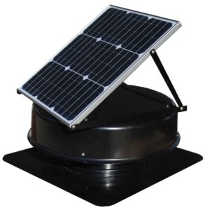 Side view of Solar Roof Vent